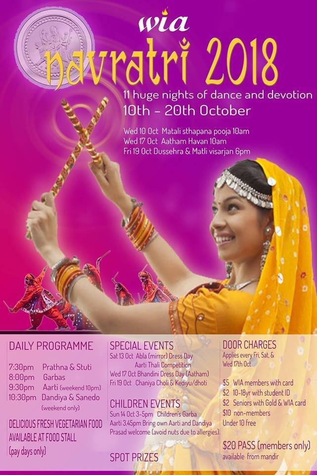 wellington indian association navratri 2018 indians in new zealand