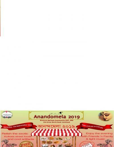 Anandomela 7th Sep 2019 Auckland