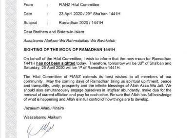 Ramadan 2020 in NZ