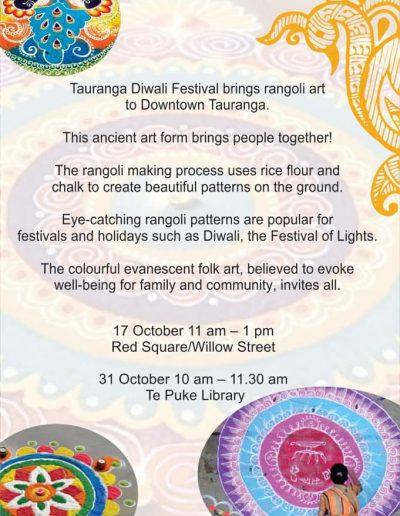 Tauranga Diwali Festival Rangoli Art