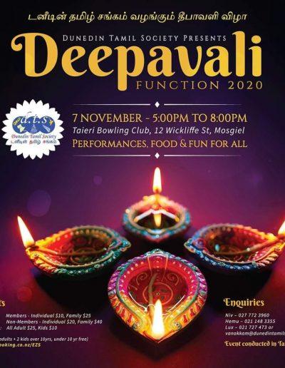 Deepavali Function Dunedin 2020