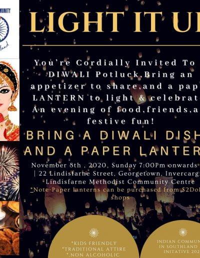 Invercargill Diwali Potluck 2020
