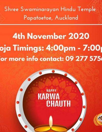Shree Swaminarayan Temple Papatoetoe Karwa Chauth 2020