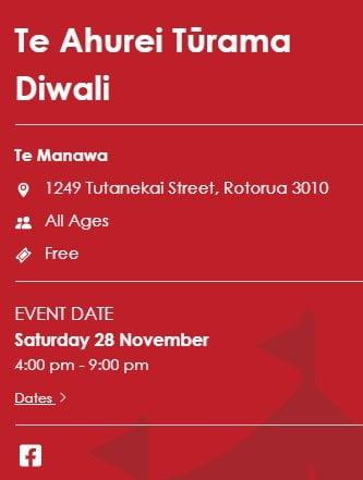 Rotorua Diwali Festival Te Ahurei Turama Diwali 2020
