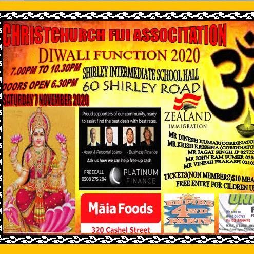 Christchurch Fiji Association Diwali 2020