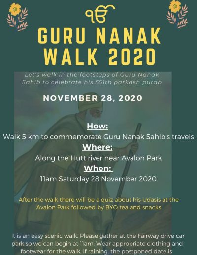 Guru Nanak Walk Wellington 2020