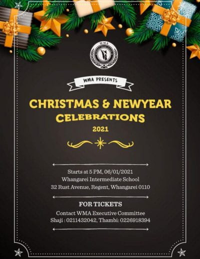 Whangarei Christmas & New Year WMA